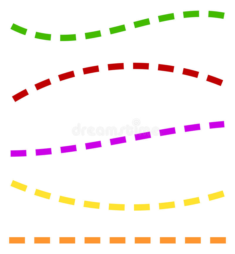 Download Комплект красочных брошенных линий в различных направлениях Иллюстрация вектора - иллюстрации насчитывающей рассекатель, геометрическо: 81811439