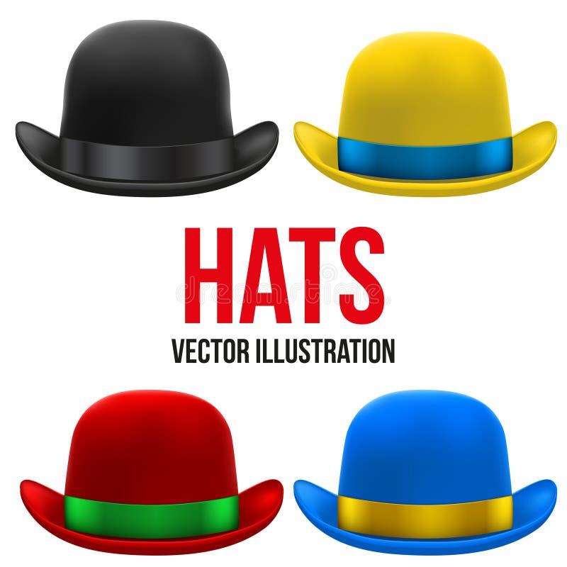 Комплект красочных котелков также вектор иллюстрации притяжки corel иллюстрация вектора