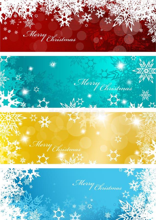 Комплект 4 красочных предпосылок рождества иллюстрация вектора