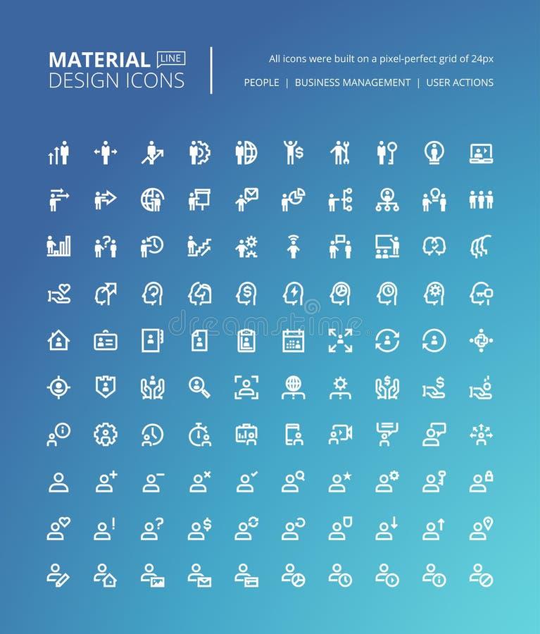 Комплект материальной линии значков дизайна бесплатная иллюстрация