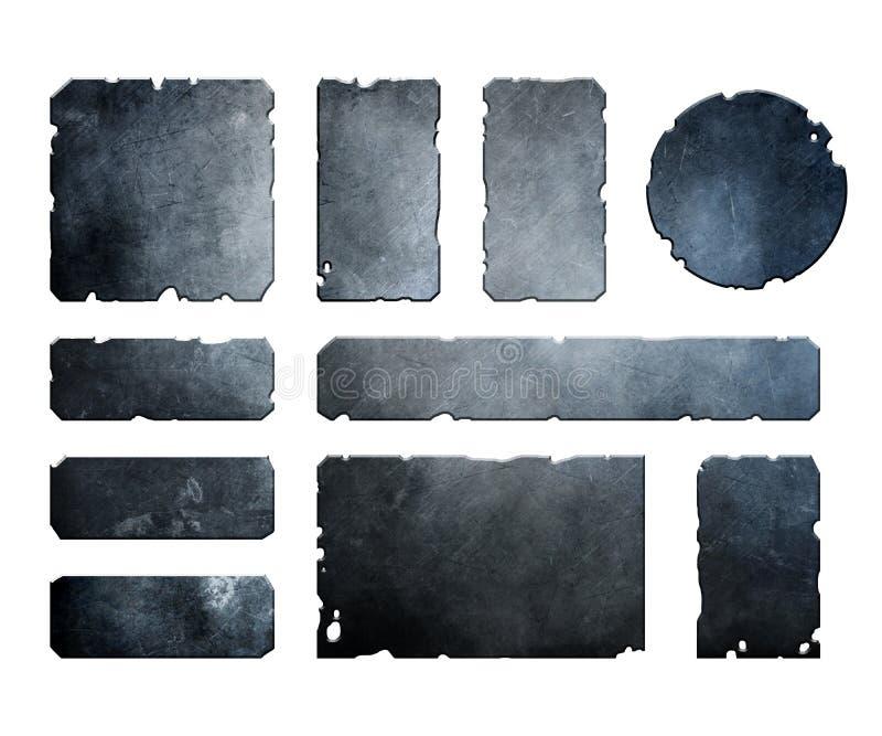 Комплект металлических элементов иллюстрация штока