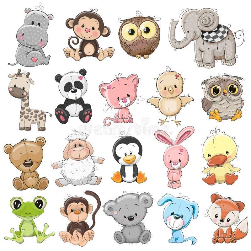 Комплект милых животных стоковое изображение rf