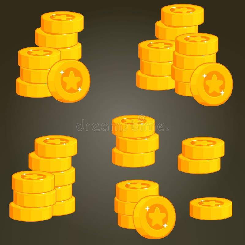 Комплект монеток для UI стоковая фотография rf