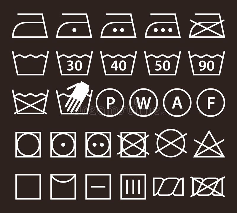 Комплект моя символов & x28; Icons& x29 прачечной; иллюстрация штока