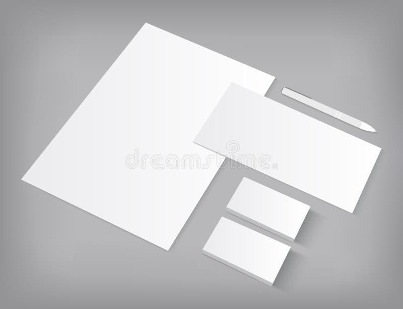 Комплект модель-макета шаблонов фирменного стиля бесплатная иллюстрация
