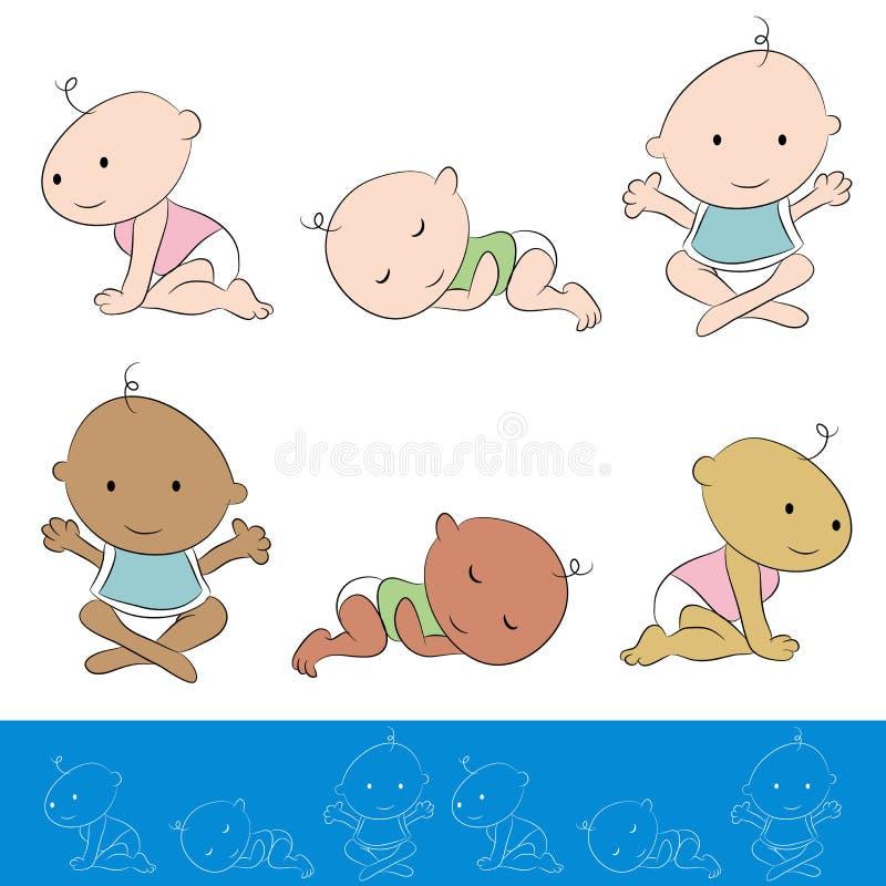 Комплект младенца бесплатная иллюстрация