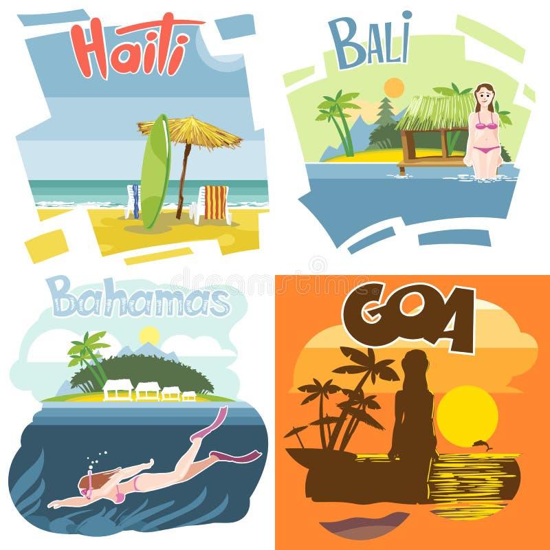 Комплект назначения каникул вектора цифров touristic бесплатная иллюстрация
