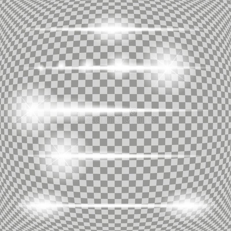 Комплект накаляя светлых звезд с вектором Sparkles бесплатная иллюстрация