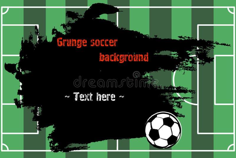 Комплект нарисованных рукой знамен grunge с футбольным мячом бесплатная иллюстрация