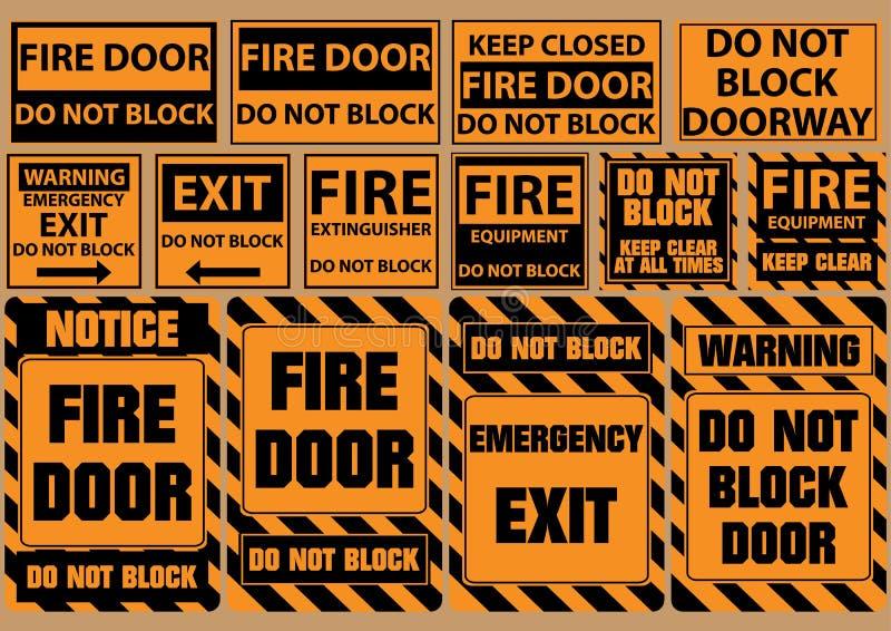 Комплект не преграждает дверь для непредвиденных целей (предупреждение, извещение, безопасность) иллюстрация штока
