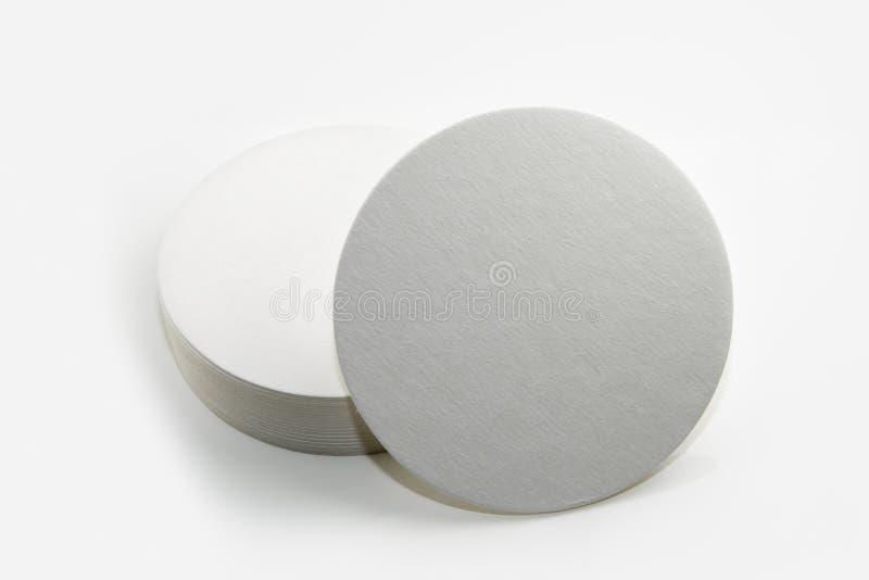 Комплект новых круглых бумажных каботажных судн стоковые фото