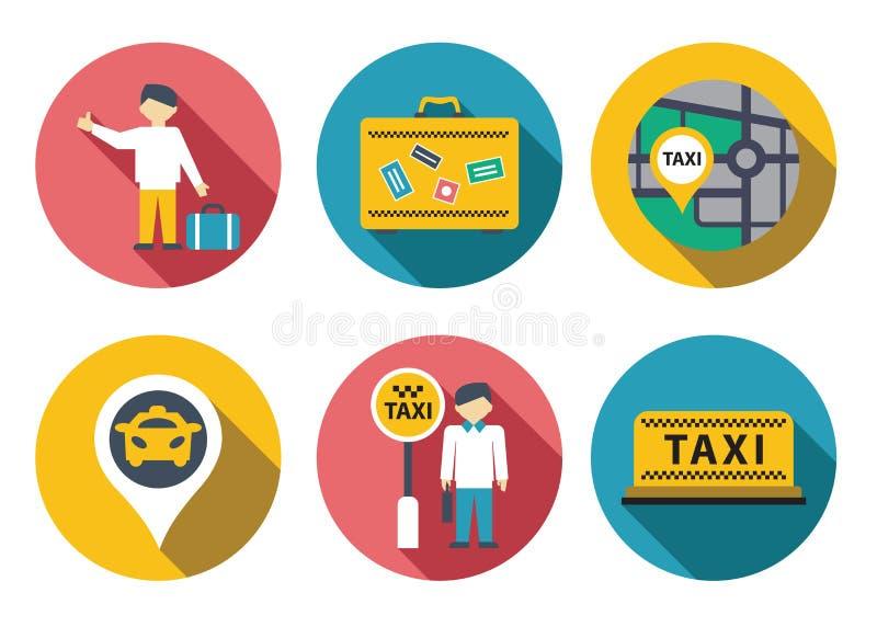 Комплект обслуживания такси иллюстрация вектора