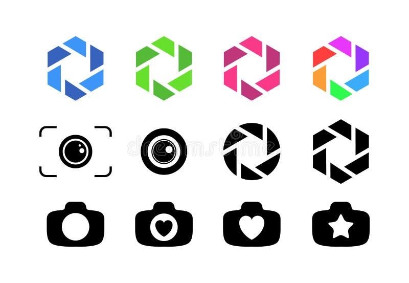 Комплект объектива фотоаппарата иллюстрация штока
