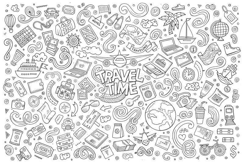 Комплект объектов и символов планирования перемещения бесплатная иллюстрация