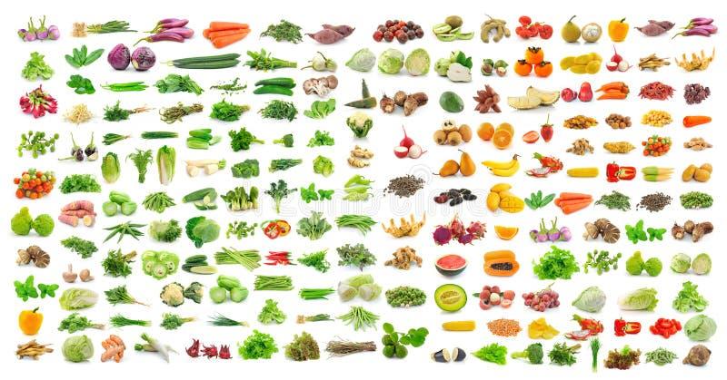 Комплект овоща и плодоовощ на белой предпосылке стоковая фотография