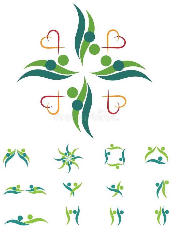 Комплект логотипа пар бесплатная иллюстрация
