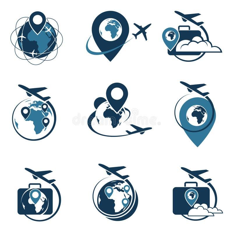 Комплект логотипа перемещения бесплатная иллюстрация