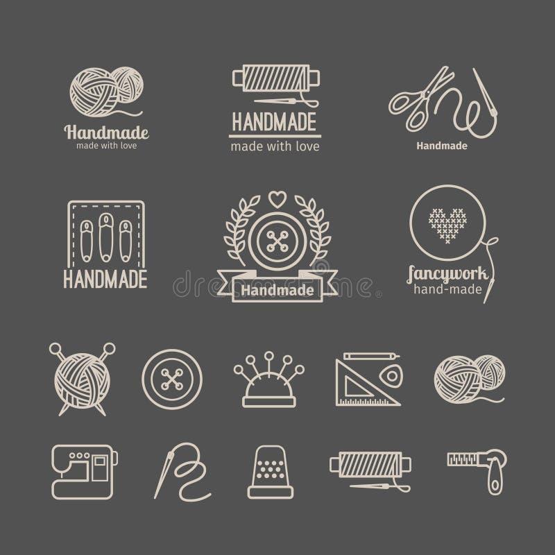 Комплект логотипа ремесленничества бесплатная иллюстрация
