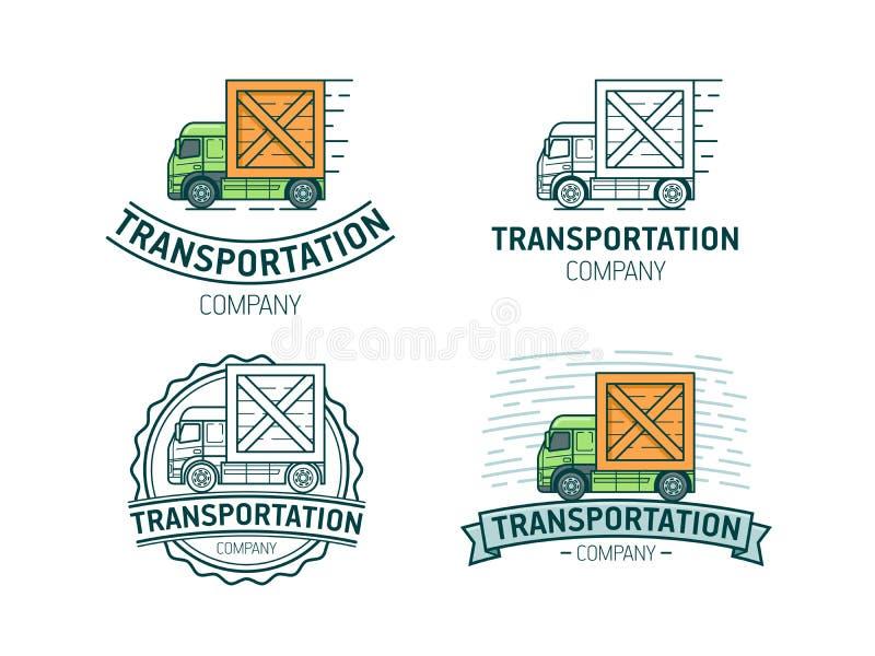 Комплект логотипа транспорта иллюстрация штока