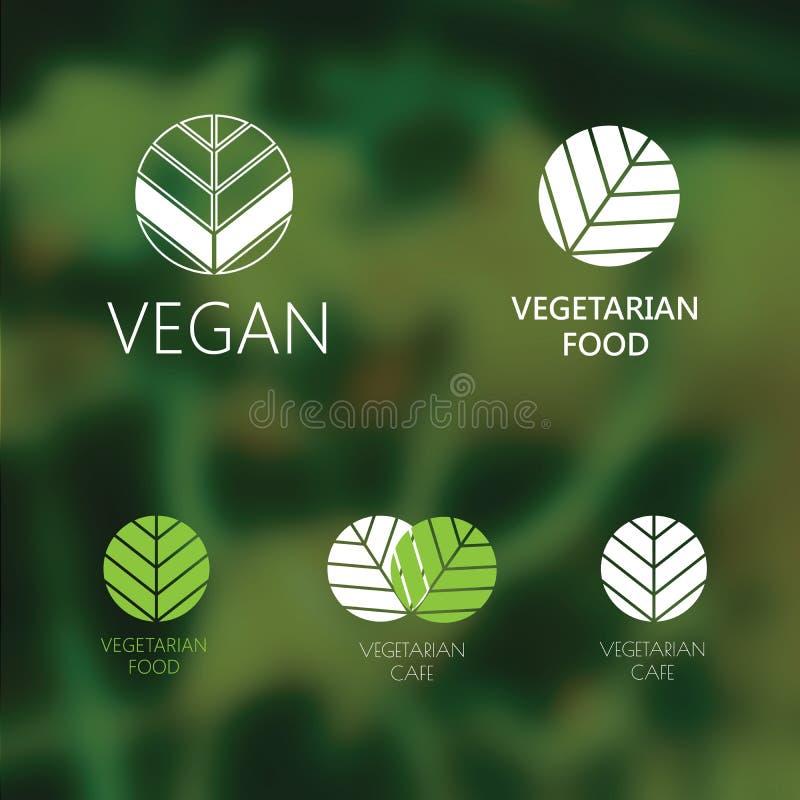 Комплект логотипов vegan бесплатная иллюстрация