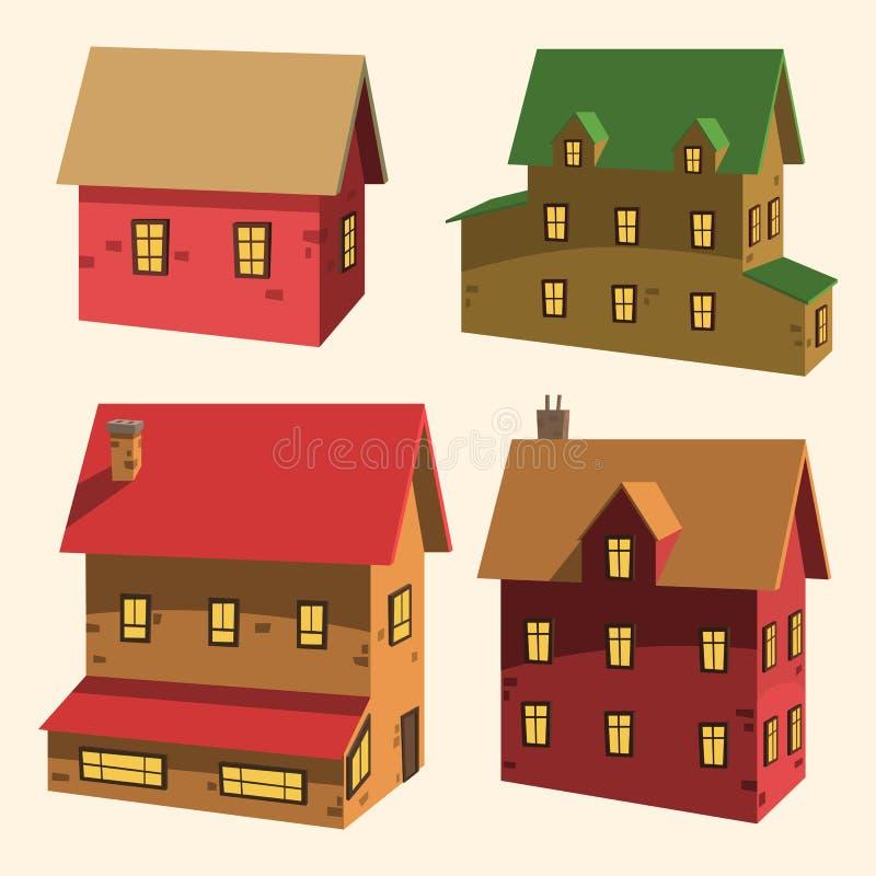Комплект дома иллюстрация штока