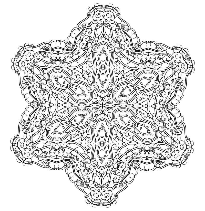 Комплект орнамента круглый с мандалой бесплатная иллюстрация