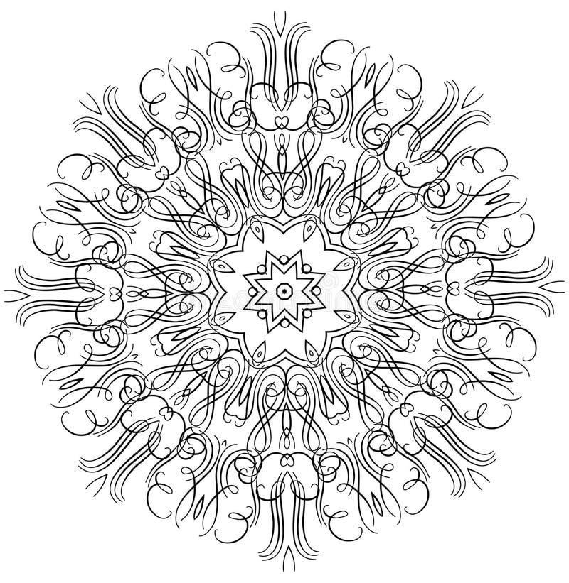 Комплект орнамента круглый с мандалой иллюстрация штока