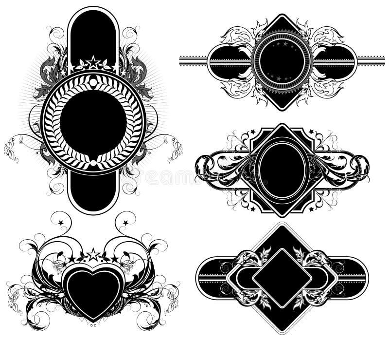 Комплект орнаментальных элементов бесплатная иллюстрация