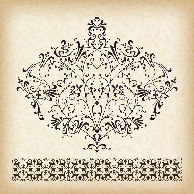 Комплект орнаментов. иллюстрация вектора