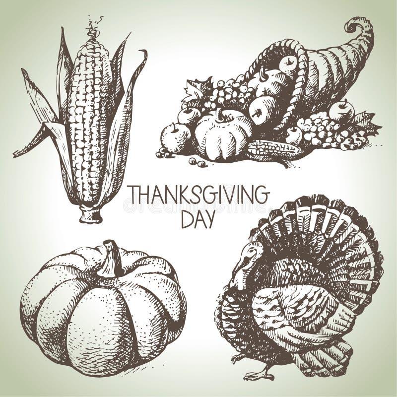 Комплект официальный праздник в США в память первых колонистов Массачусетса иллюстрация штока