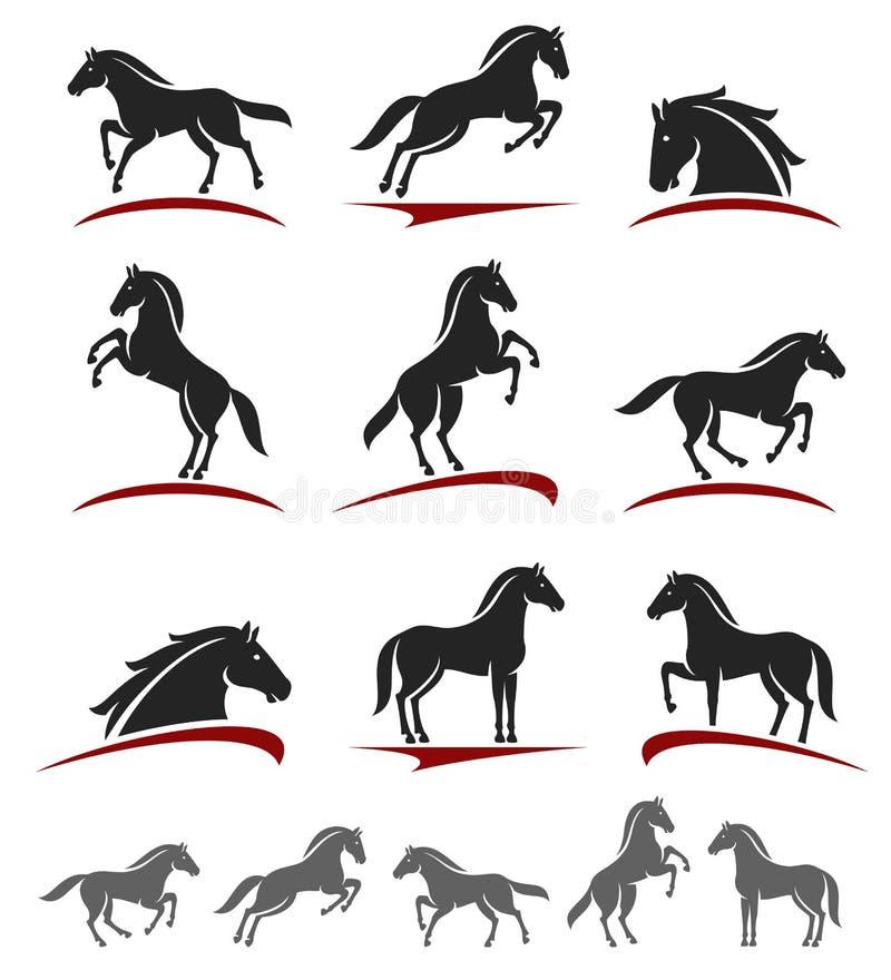 Комплект лошади вектор бесплатная иллюстрация
