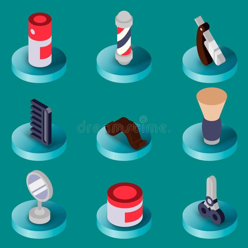 Комплект парикмахерской плоско равновеликий бесплатная иллюстрация