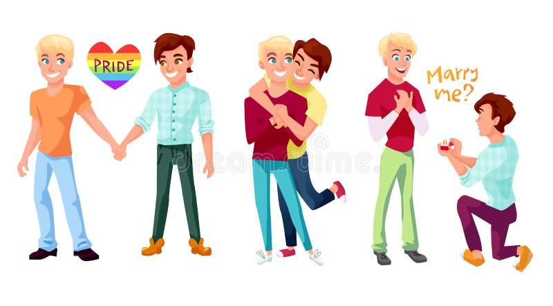 Комплект пар гомосексуалиста иллюстрация штока