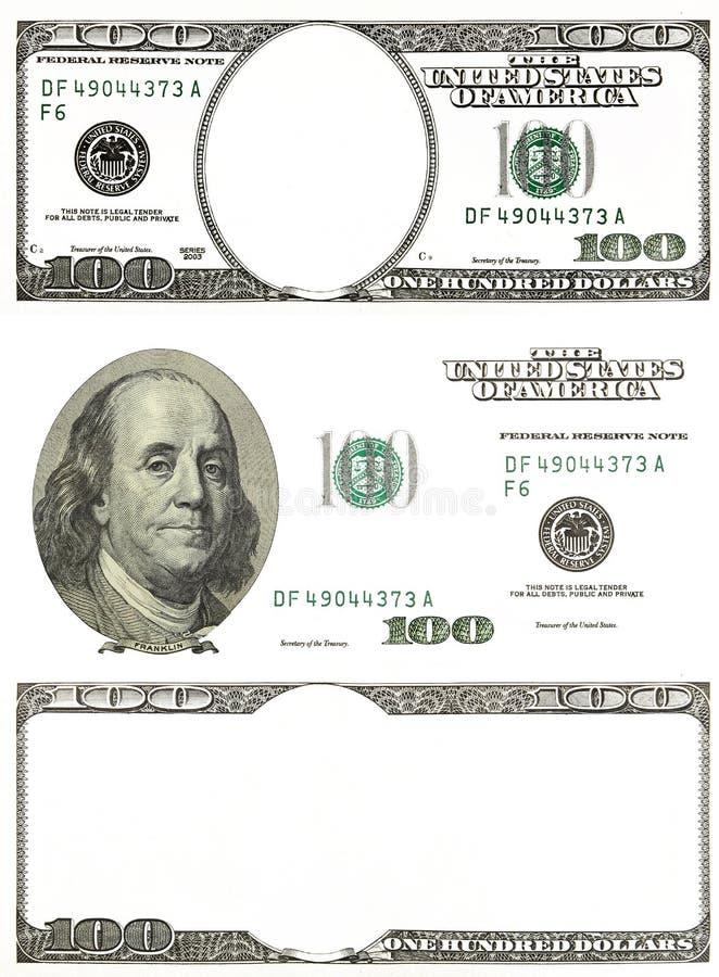 Комплект первоначально долларов детали изолированных на белой предпосылке стоковые фотографии rf