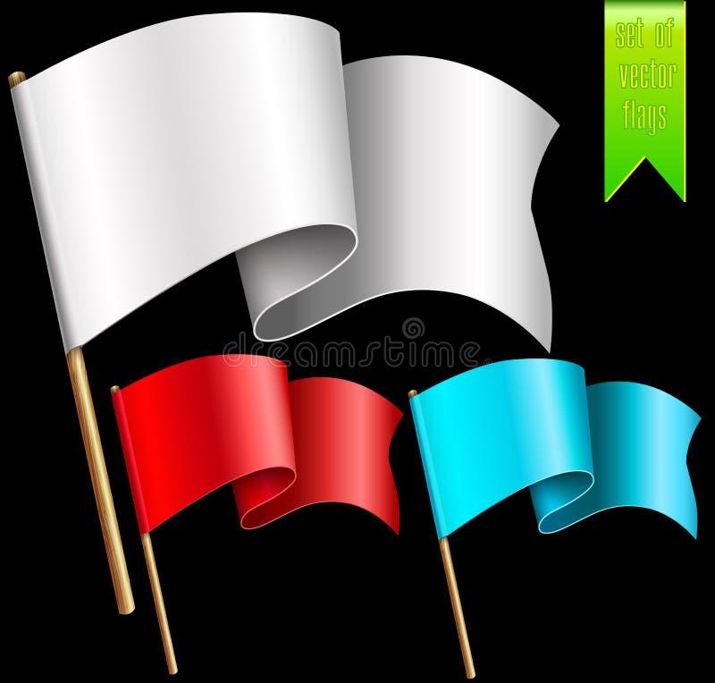 Комплект пестротканых флагов бесплатная иллюстрация