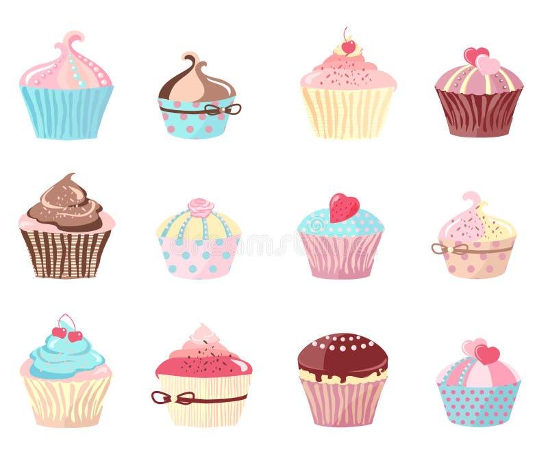 Комплект тортов бесплатная иллюстрация
