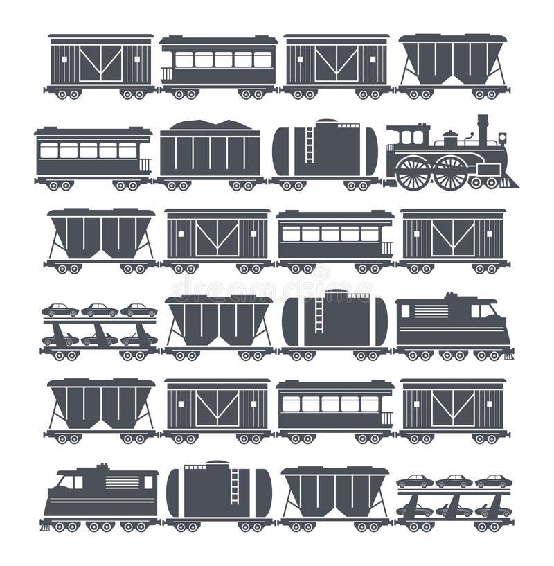 Комплект поезда иллюстрация вектора