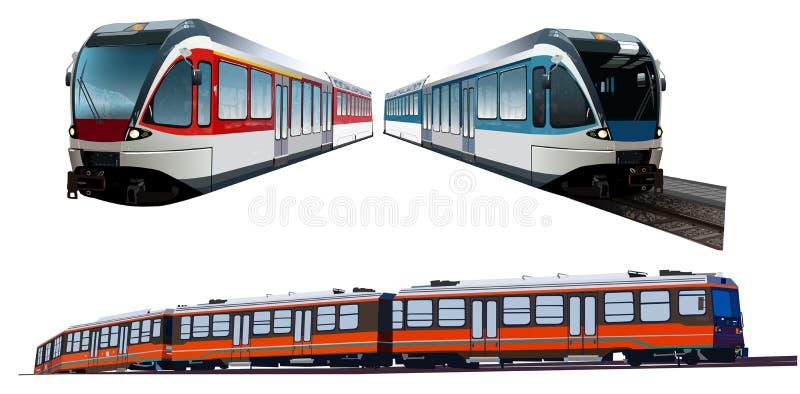Комплект поездов иллюстрация штока