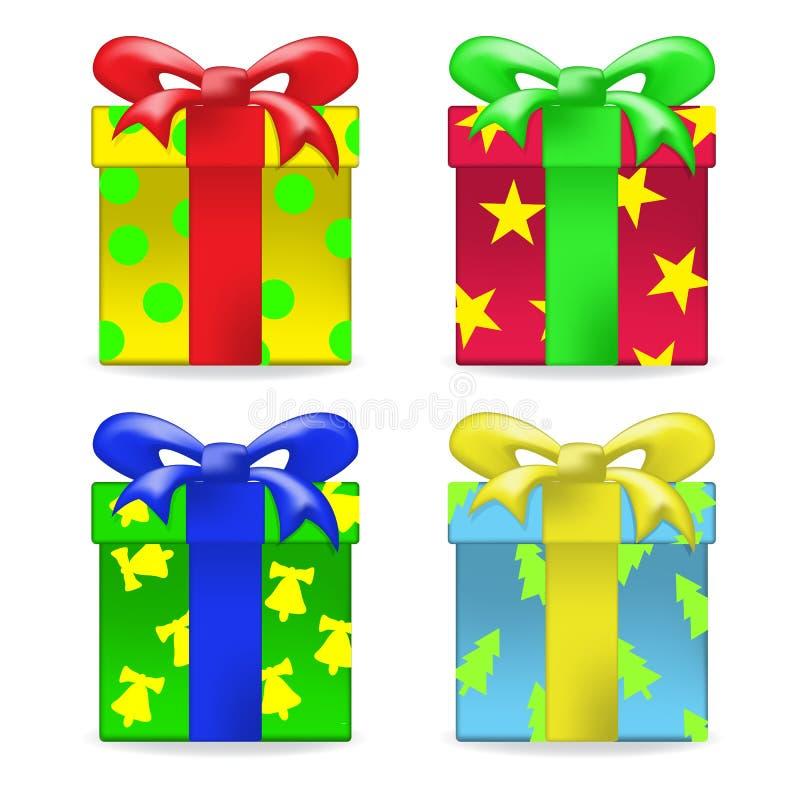 Комплект подарочной коробки вектора иллюстрация штока
