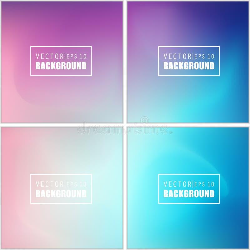 Комплект предпосылки абстрактного творческого вектора концепции пестротканый запачканный Для сети и передвижных применений, иллюс иллюстрация вектора