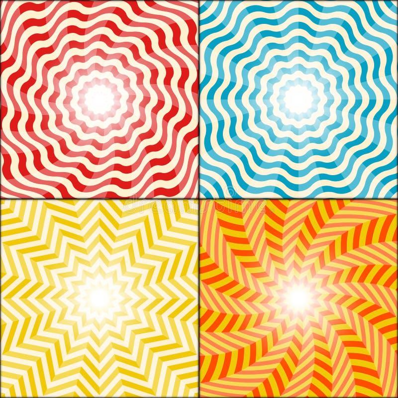 Комплект предпосылки лучей Солнця бесплатная иллюстрация