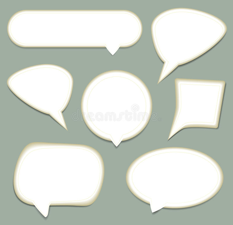 Комплект пузыря речи. иллюстрация штока