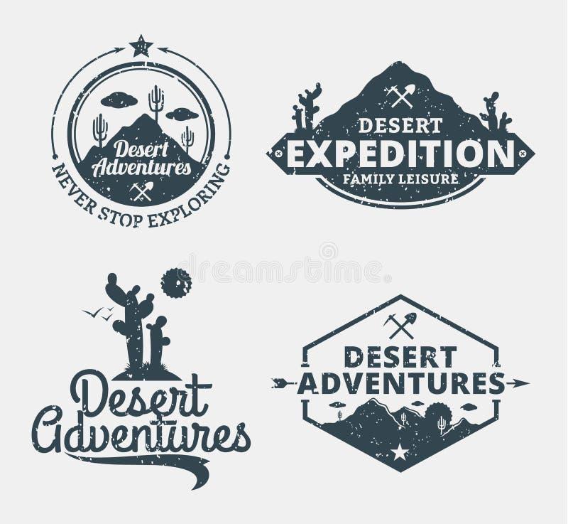 Комплект пустыни рискует логотип бесплатная иллюстрация