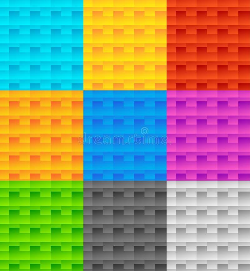 Download Комплект 9 плавно Repeatable геометрических картин Иллюстрация вектора - иллюстрации насчитывающей пурпурово, цвет: 81813145