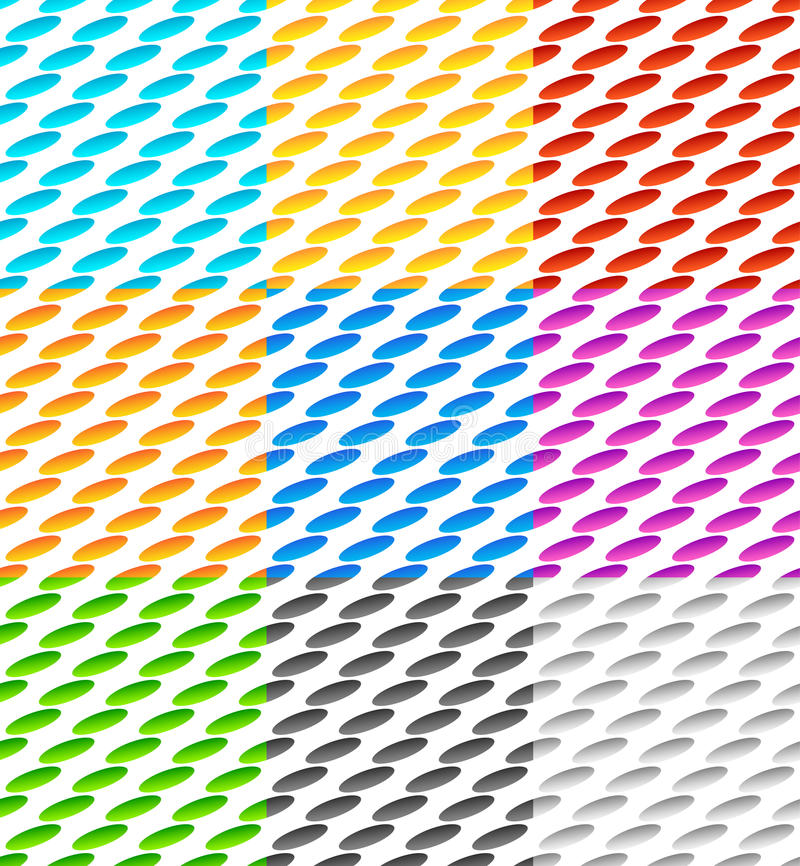 Download Комплект плавно Repeatable геометрической картины 9 с наклоненным Ov Иллюстрация вектора - иллюстрации насчитывающей мозаика, картина: 81813144