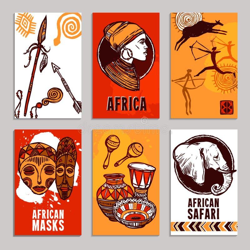 Комплект плаката Африки иллюстрация вектора