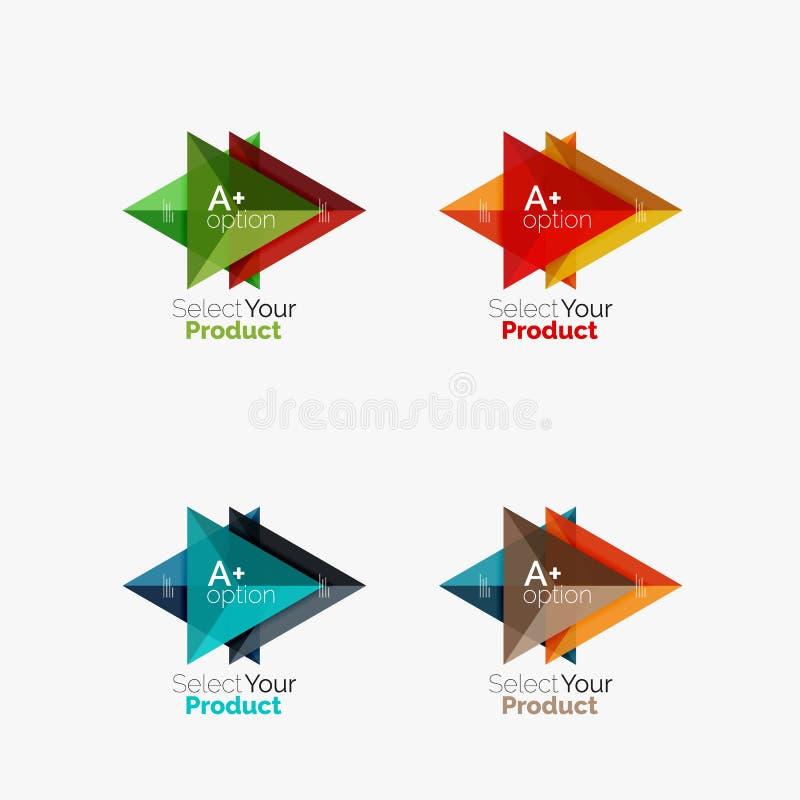 Download Комплект планов треугольника Infographic с текстом и вариантами Иллюстрация вектора - иллюстрации насчитывающей представление, идея: 81805292