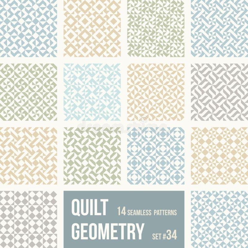Комплект 12 плиток с геометрическими картинами бесплатная иллюстрация