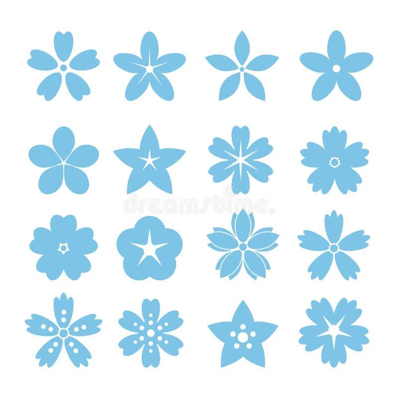 Комплект плоских значков цветка значка бесплатная иллюстрация