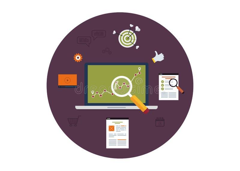 Комплект плоских концепций иллюстрации вектора дизайна иллюстрация штока